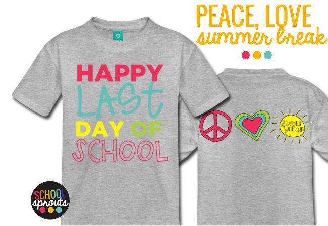 summer break tshirts for kids - Introducing School Sprouts - Cool Shirts for Kids