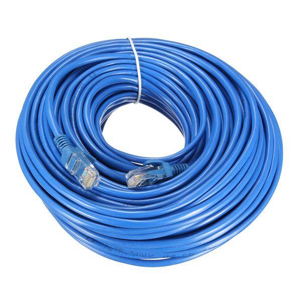 25m Blue Cat5 65FT RJ45 Ethernet Cable For Cat5e Cat5 RJ45 Internet Network LAN Cable Connector