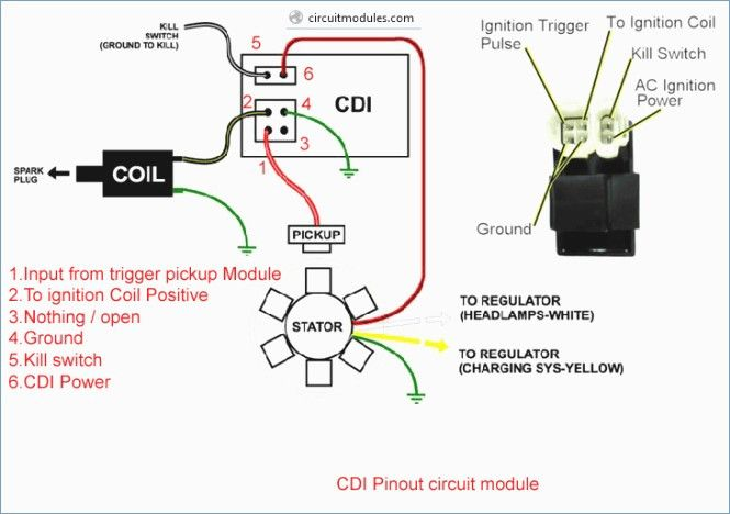 6 Wire Cdi Wiring - wiring diagram on the net Honda Cdi Wiring Diagram on