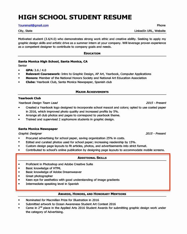 Skills For High School Resume Lovely 20 Skills For A Resume Examples How To List Them In 2020 Resume Skills Resume Skills Section Computer Skills Resume