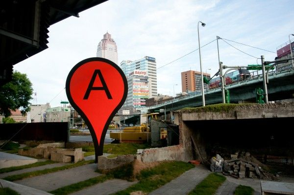 Architizer Blog » Where is the Center of a City? // NOT by google. An artist