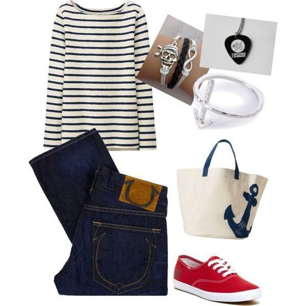 A fashion look from September 2014 featuring Uniqlo t-shirts, True Religion jeans and Keds sneakers. Browse and shop related looks.