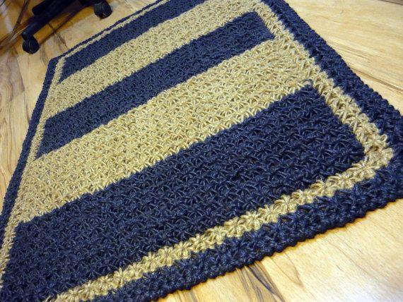 Crochet jute rug Handmade 104 cm Ready to ship by EvaArtisan, $137.00