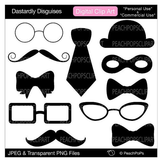 Disguise clipart digital clip art cute original by peachpopsclipart on Etsy, $5.00