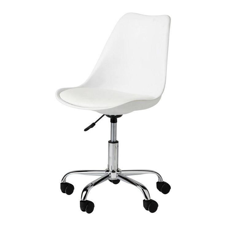 Chaise de bureau blanche Bristol