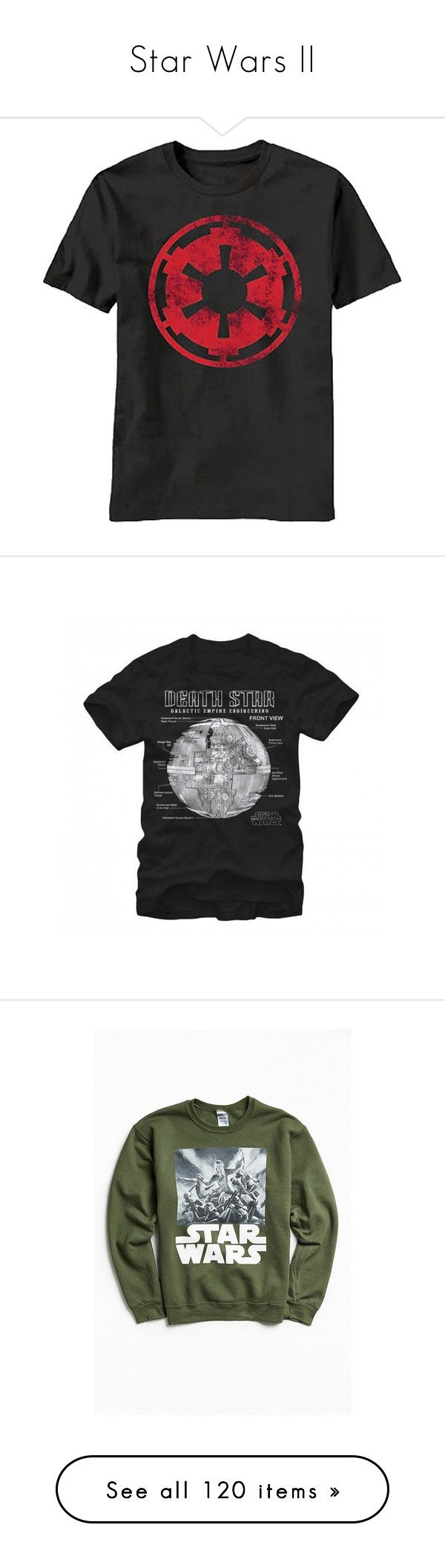 """Star Wars II"" by shulabond on Polyvore featuring tops, t-shirts, logo t shirts, logo top, empire top, logo tees, men's fashion, men's clothing, men's shirts and men's t-shirts"