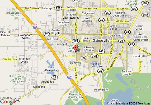 Map Of Gainesville Florida Neighborhoods  Map Of Hilton