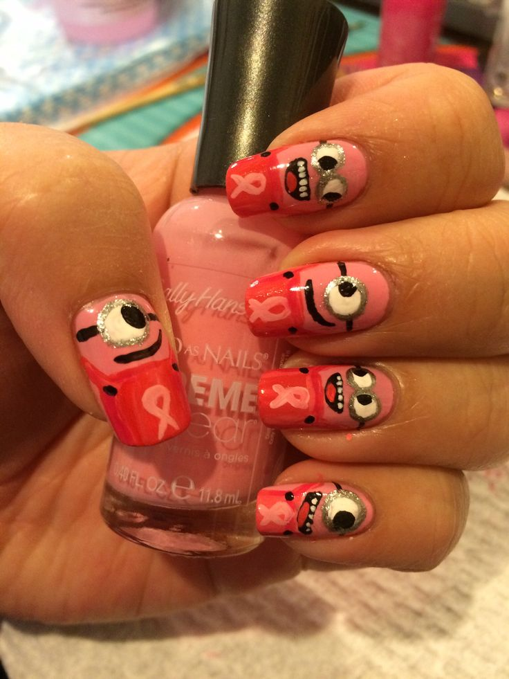 Nail design. MINIONS! Inspired by nailstorming.