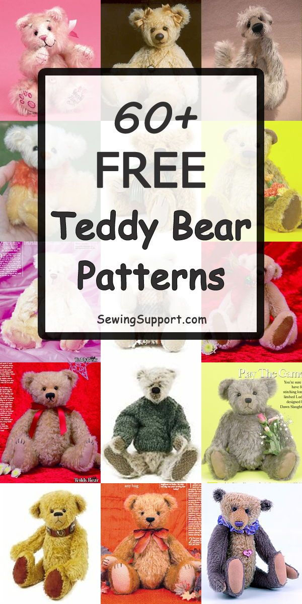graphic relating to Free Teddy Bear Patterns Printable referred to as 60+ Free of charge Teddy Undertake Types Cost-free Sewing Models Teddy
