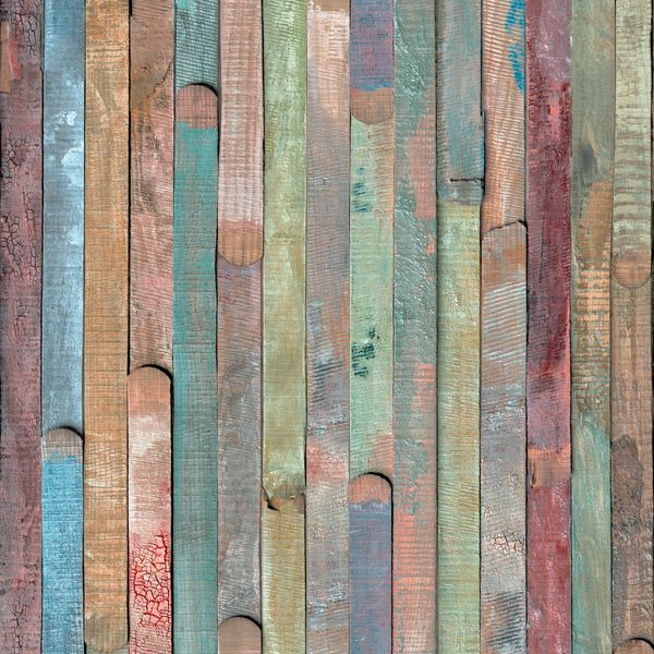 Easily create your own reclaimed furniture with this colorful rustic wood adhesive film