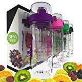 Bevgo Fruit Infuser Water Bottle - Large 1 Litre - Intergrated Timeline on All Bottle - Save Your Money and Hydrate the Healthy Way - Multiple Colors with Recipe Book Gift Included - https://www.trolleytrends.com/?p=385689