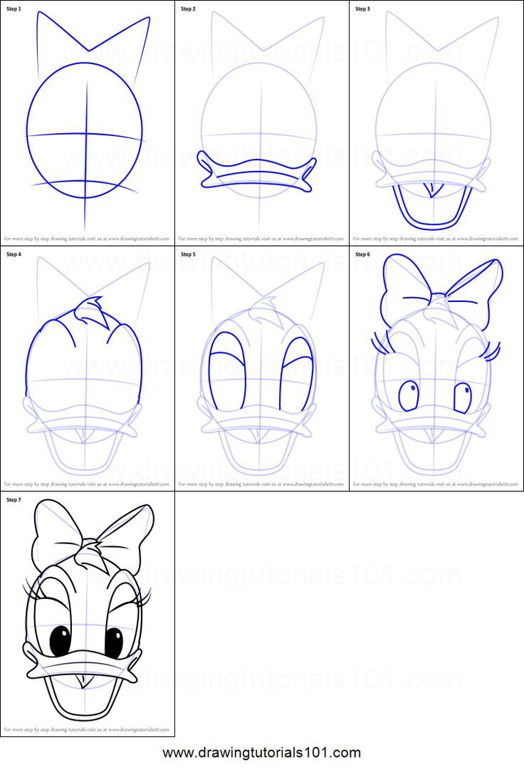 How To Draw Daisy Duck Face From Mickey Mouse Clubhouse Printable Drawing Sheet By Drawingtutorial Disney Drawing Tutorial Easy Disney Drawings Disney Sketches