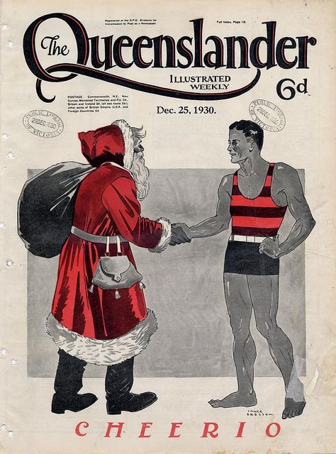 Illustrated front cover from The Queenslander December 25 1930. Via State Library of Queensland Flickr. #Christmas