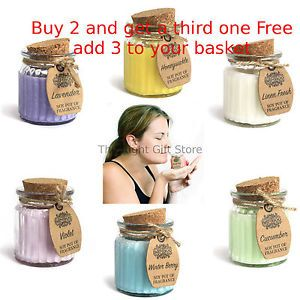 soy Fragrance Candles Scented Candles Glass Jar Candles Candle Pots candle gifts  | eBay
