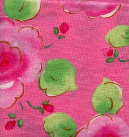 Fabric from Free Spirit Picket Fence - Dark Pink FloralPicket Fence