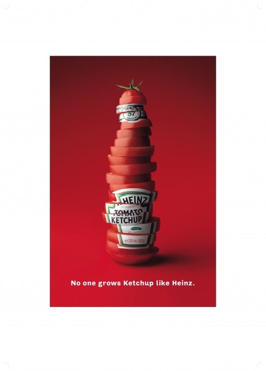 "Heinz spot, by Brian Fraser, former Executive Creative Director of McCann London. ""No one grows Ketchup like Heinz."""