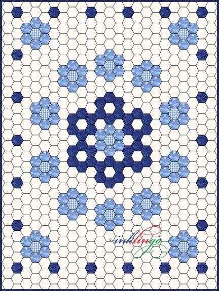 Best 25+ Hexagon quilting ideas on Pinterest   Hexagon quilt, What ... : hexagon patterns for quilts - Adamdwight.com