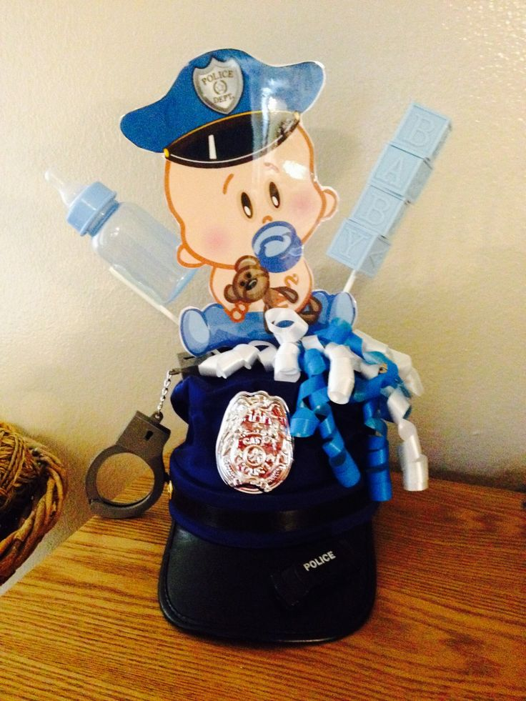 29 best baby shower images on pinterest police officer boy shower police baby shower centerpiece filmwisefo
