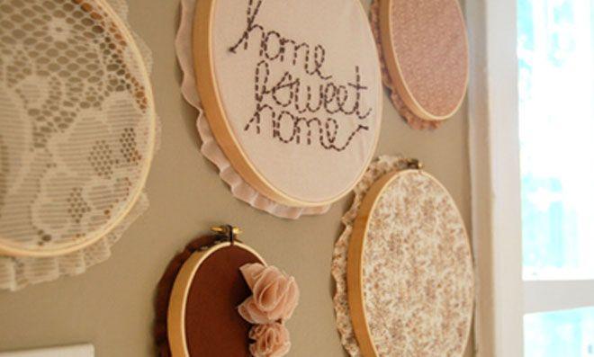 Reaproveite os bastidores antigos e faça uma linda peça para decorar sua casa. Confira!