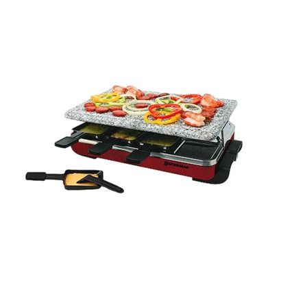 Electric Raclette Grill 6 Person Party Non Stick Cheese Vegetables Meat Cooktop