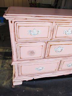 Girly Pink Dresser Shabby Chic
