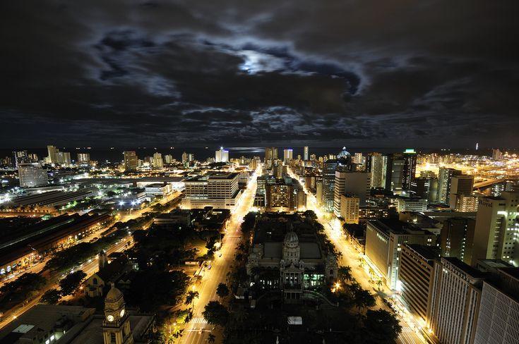 Durban CBD by Moonlight. #SouthAfrica #business #work | www.savisas.com |