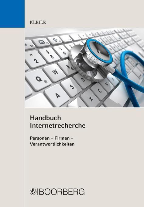 Handbuch Internetrecherche als Buch