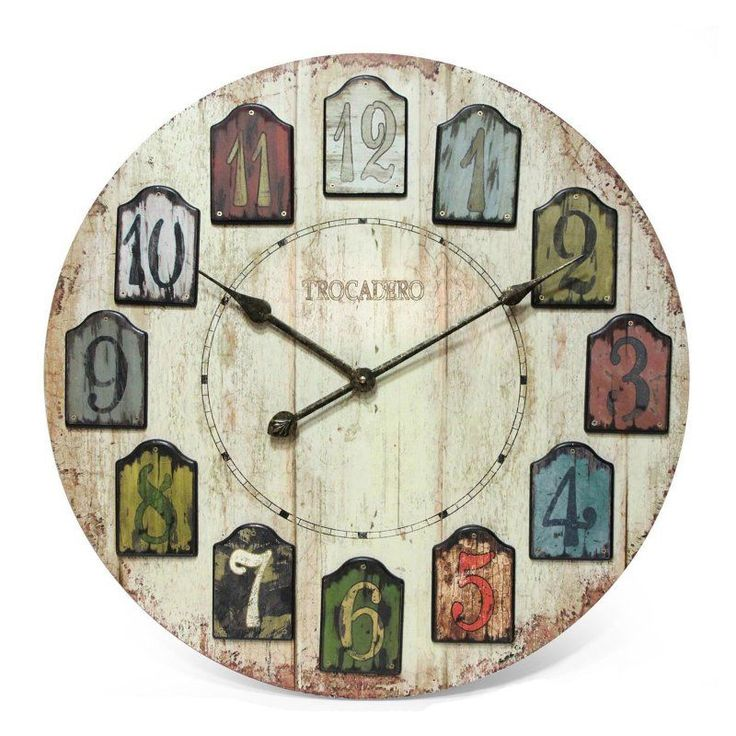 visit the home depot to buy home decorators collection in w weathered plank wall clock