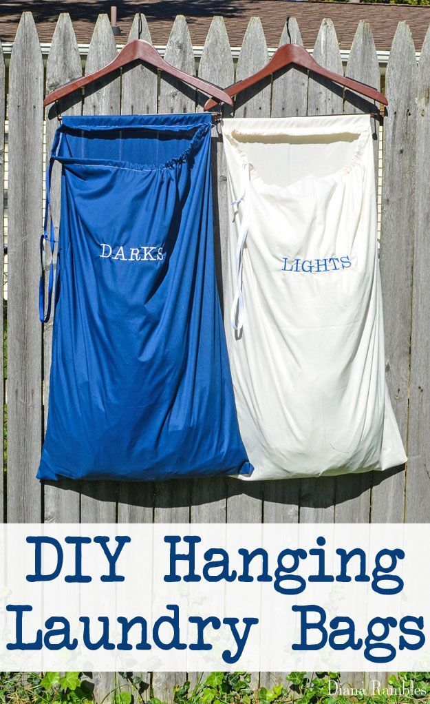 Diy Hanging Laundry Bags Tutorial Create These Hanging Laundry