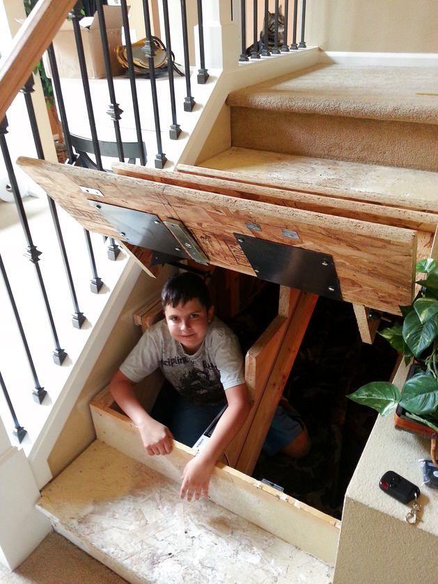 Организация пространства, Лестница, Декор, американский стиль, Коричневый, Бежевый,