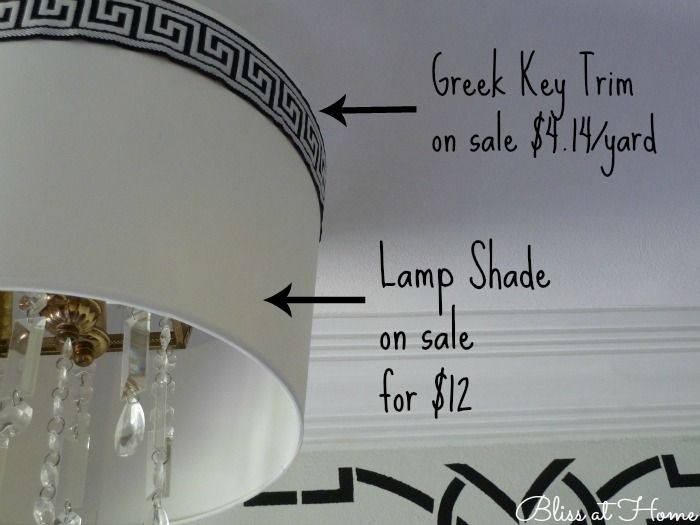 Inexpensive Drum Shade Ceiling Light Fixture DIY Tutorial, Bliss At Home  Featured On Remodelaholic