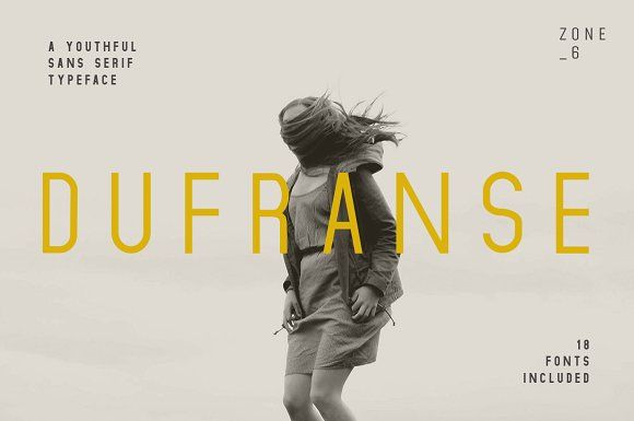 Dufranse | A Youthful Font Family by Zone 6 on @creativemarket