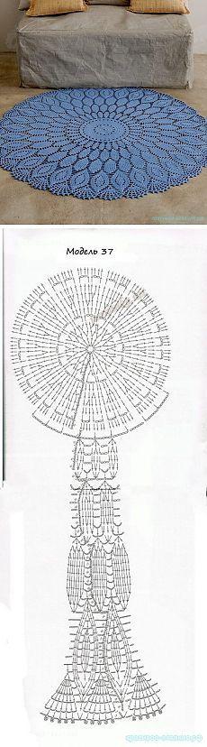 Красивое вязание   Коврик крючком: