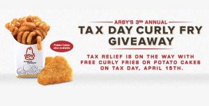 FREE Curly Fries at Arby's Tax Day ONLY!!