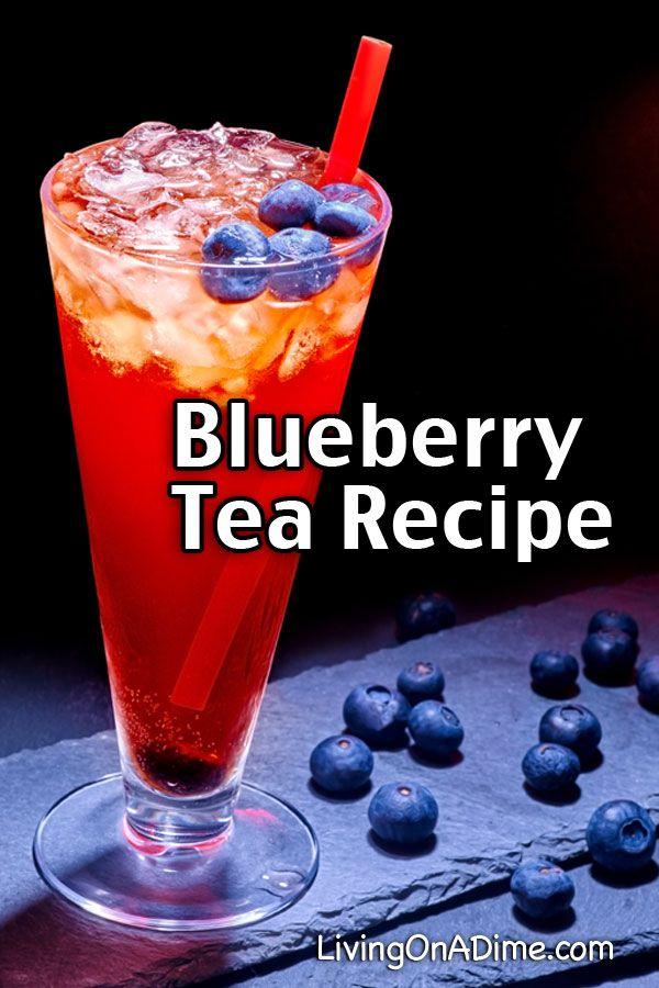 Easy Blueberry Tea Recipe - 13 Homemade Flavored Tea Recipes