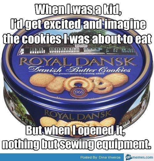 """Hand me my sewing kit."" 