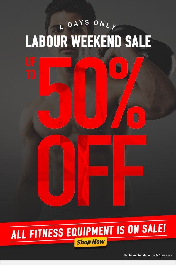 Up to 50% OFF Labour Weekend Sale All Fitness Equipment @ Number One Fitness - Bargain Bro