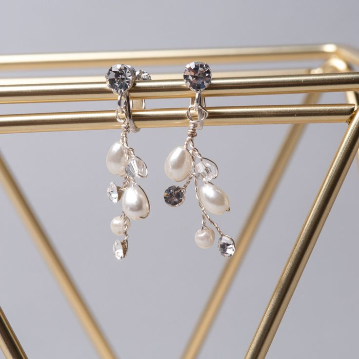 Pearly Flower Earrings handcrafted by Shop No.2 Accessories