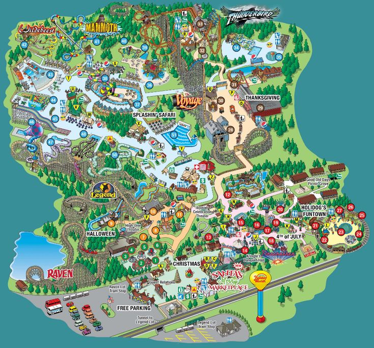 Splashin' Safari Park Map in 2020 Theme park map