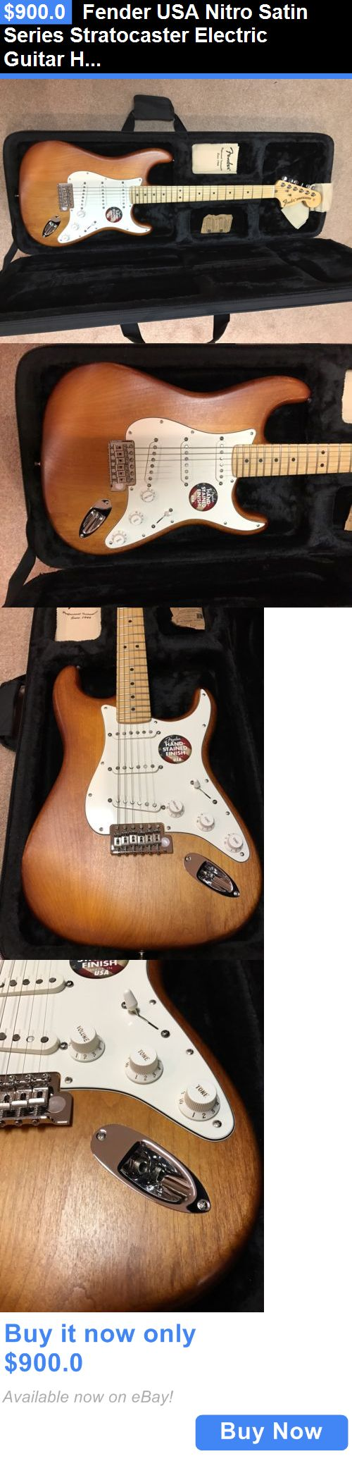 musical instruments: Fender Usa Nitro Satin Series Stratocaster Electric Guitar Honey Burst Maple BUY IT NOW ONLY: $900.0