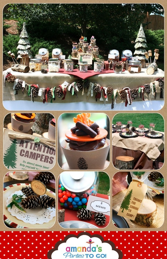 Camping Themed Party Decor
