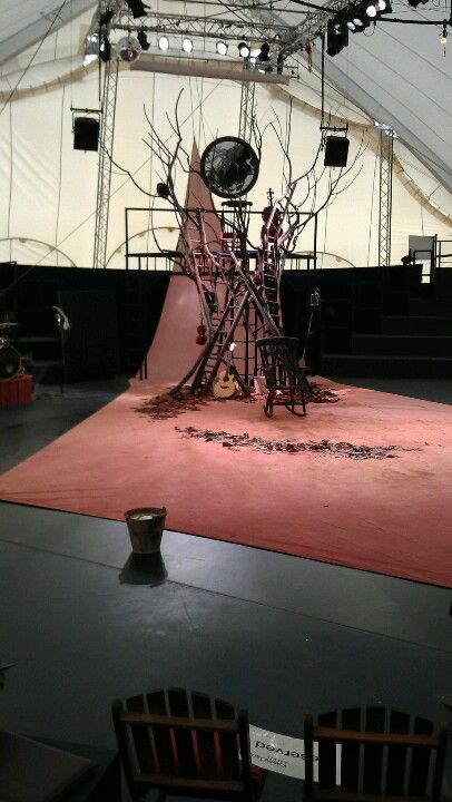 Kneehigh theater. The set from Wild Bride, one of my most favorite evenings of theatre