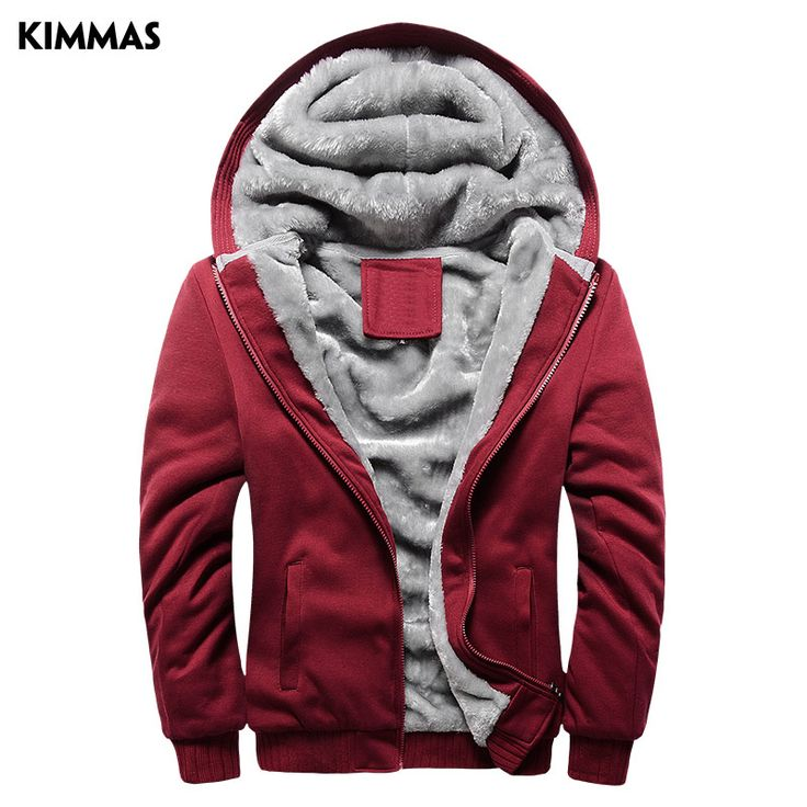 Free Shipping Big Discount Hot Sell KIMMAS Winter Thick Men Fashion Brand Hoodies Sweatshirts Casual Sports Male Hooded Jackets [Affiliate]