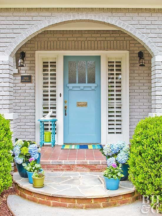 Roll out the welcome mat! With a few DIY updates, these front doors emerge from the shadows and become the best-looking entryways on the block.