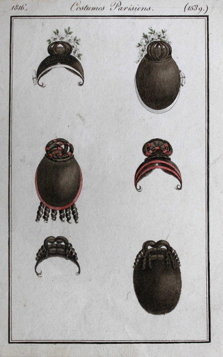 Costumes Parisiens 1816 Haarteile Frisuren Hairpiece Wigs
