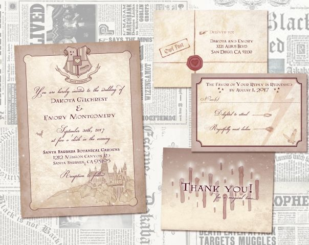 Harry Potter Wedding Invitation - Awkward Affections