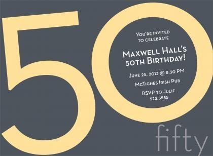 26 best 50th birthday invites images on pinterest invitations 50th birthday invitation filmwisefo