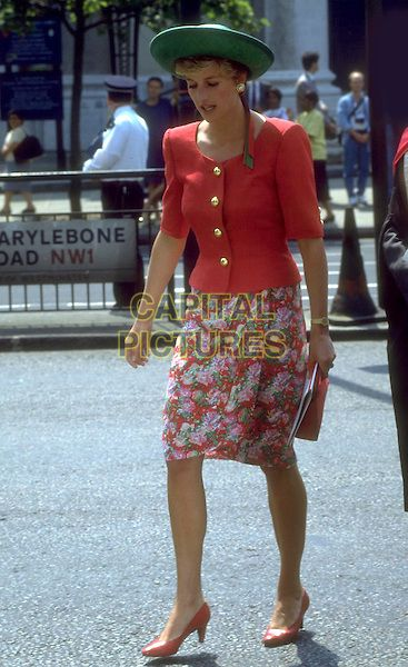 DIANA, PRINCESS OF WALES.royal, hat, dead, deceased.Ref: 1314.www.capitalpictures.com.sales@capitalpictures.com.© Capital Pictures