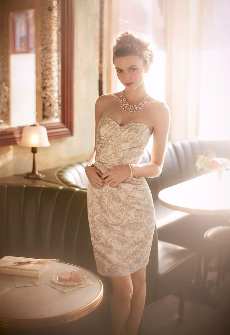 382 best bridal party images on pinterest lady marriage and printed lace brings chic appeal to this ultra feminine bridesmaid dress style from davids bridal ombrellifo Image collections