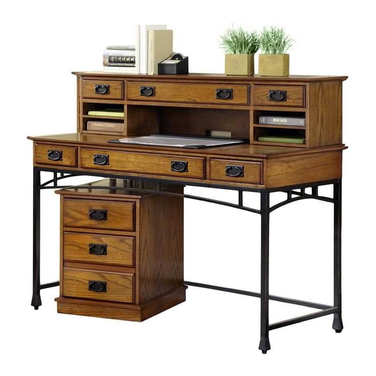 Shop Home Styles  5050-15 Modern Craftsman Executive Desk with Optional Hutch and File Cabinet at The Mine. Browse our home office furniture sets & suites, all with free shipping and best price guaranteed.